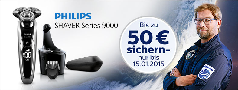 Philips Series 9000 Cash Back Aktion
